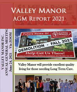 Valley Manor - AGM Report 2021
