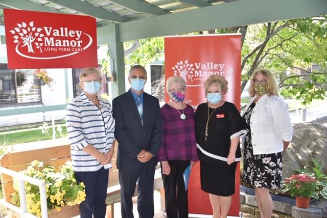 <b>Valley Manor Board of Directors - Heather Poloquin, Pierre Paul Filion, Kathryn Marion, Chair, Trisha Sammon, CEO and Alison Vandergraght</b>